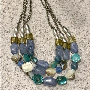 NY Multi Strand beaded Necklace